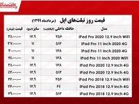 قیمت روز تبلت اپل در بازار +جدول