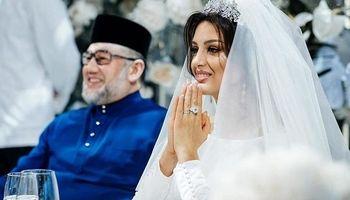 طلاق پادشاه سابق مالزی از ملکه زیبایی روس +تصاویر