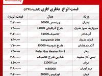 قیمت جدید انواع بخاری گازی +جدول