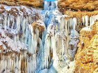 آبشار یخزده ممکان سلماس +عکس