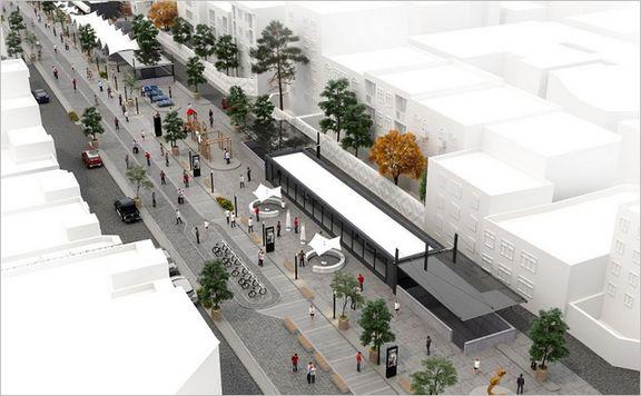 احداث فضای باز شهری در تراز همکف پروژه امیرکبیر