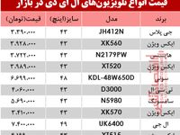 نرخ انواع تلویزیونLED در بازار؟ +جدول