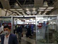 کنترل دمای بدن و غربالگری مسافرین ورودی به فرودگاه عسلویه