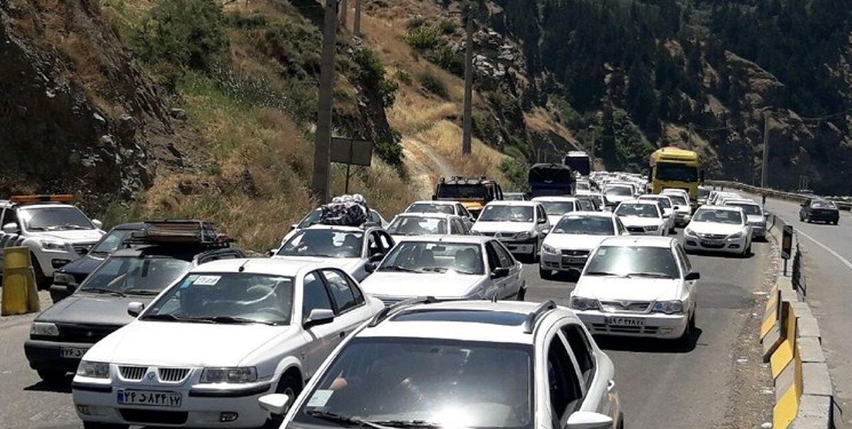 ترافیک در محورهای هراز و کندوان