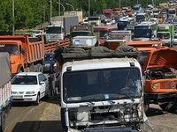 تصادف زنجیرهای مرگبار در جاده هراز