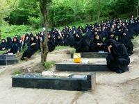 مراسم هفتمین روز درگذشت جانباختگان معدن زمستان یورت آزادشهر +عکس