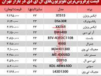 نرخ انواع تلویزیونLED در بازار تهران چند؟ +جدول