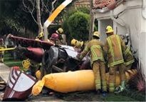 ۳کشته در پی سقوط بالگرد در کالیفرنیا +عکس