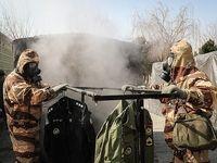 قرارگاه مقابله با کرونا نیروی زمینی ارتش را ببینید +تصاویر