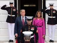 حاشیههای استقبال ترامپ از «این» +تصاویر