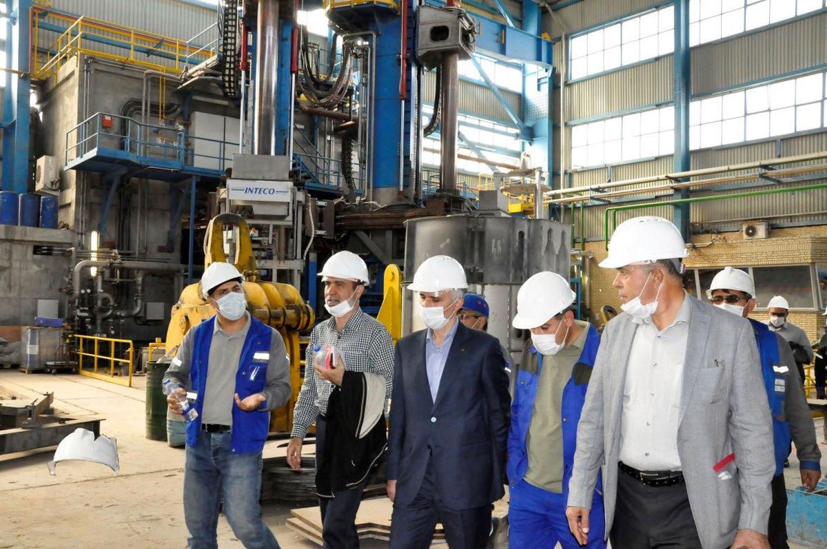بازدید مدیر عامل ذوب آهن اصفهان از مجتمع صنعتی اسفراین