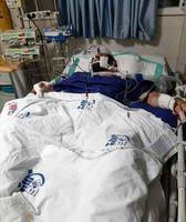 جدیدترین عکس از گنده لات تهران روی تخت بیمارستان