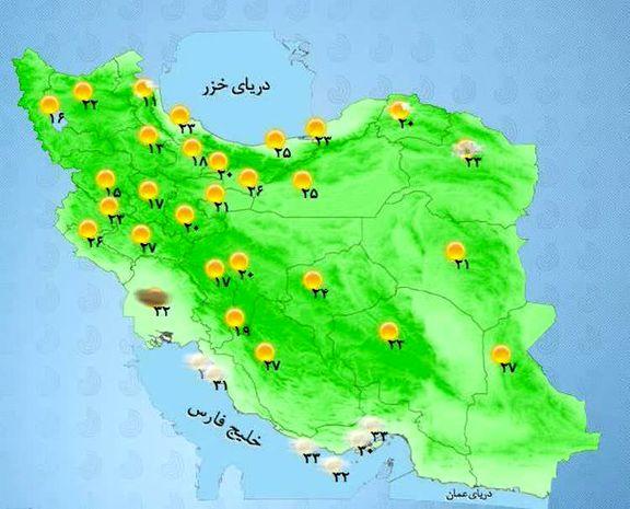 در بیشتر مناطق کشور جوی آرام پیش بینی میشود