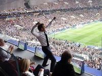 خوشحالی جالب ماکرون بعد از گلزنی فرانسه +عکس