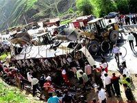 واژگونی اتوبوس در جاده چالوس با 16 کشته +عکس