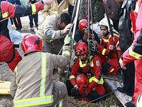 سقوط کارگر ساختمان در چاه ۱۰ متری +تصاویر