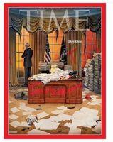 تصویر جلد مجله تایم روز اول بایدن و میراث ترامپ
