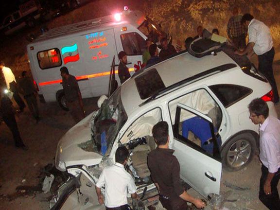 تصادف جادهای یک کشته و ۲مصدوم برجای گذاشت