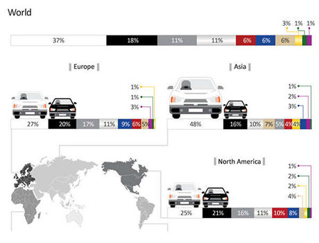 محبوبترین رنگ اتومبیل در جهان کدام است؟ +اینفوگرافیک