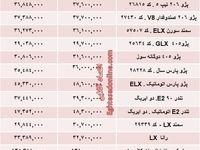 قیمت جدید محصولات ایران خودرو +جدول