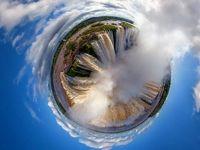 تصویر 360درجه هوایی از آبشار ایگوازو