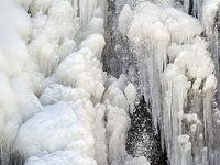 طبیعت زمستانی آبشار گنجنامه همدان +تصاویر