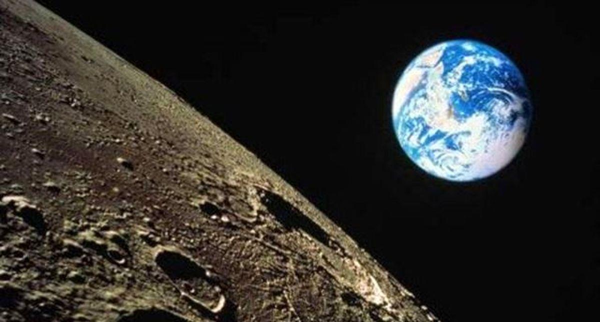 نمایی متفاوت از کره ماه +عکس