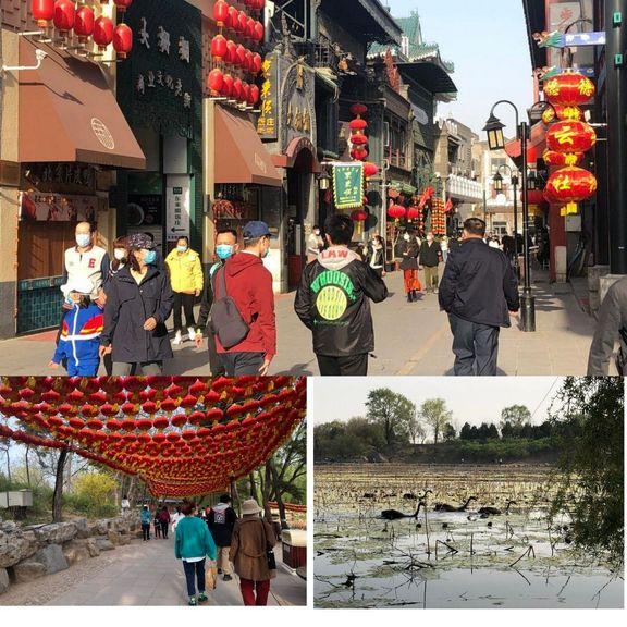 آرامش بهاری پکن پس از پایان دوران قرنطینه +عکس