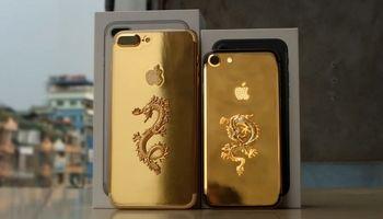آیفون ۷ با روکش طلای ٢۴ عیار+ تصاویر
