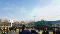 یک پل عابر پیاده در مشهد سقوط کرد