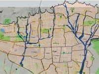 نقشه محدوده سیلابی شهر تهران با دوره بازگشت ۱۰۰ساله