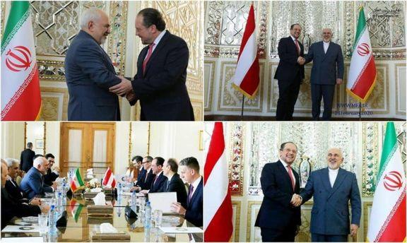 وزیر خارجه اتریش با ظریف دیدار کرد +عکس