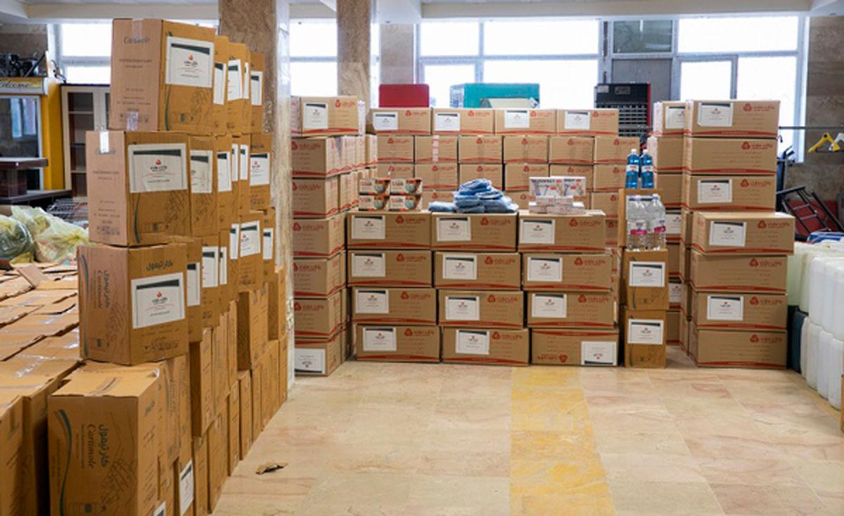 اهدای ۲کامیون اقلام بهداشتی از سوی بانک ملت به آسایشگاه کهریزک البرز