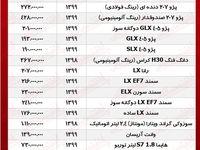 قیمت روز محصولات ایرانخودرو +جدول