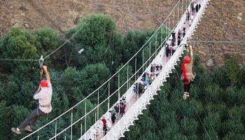 مرتفعترین پل معلق کابلی خاورمیانه +تصاویر