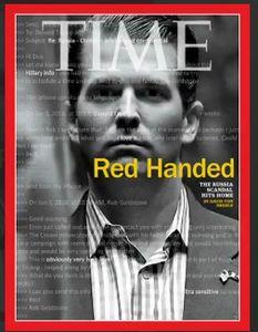 جلد نشریه تایم؛ دردسر ایمیلهای دونالد ترامپ جونیور برای پدرش +فیلم