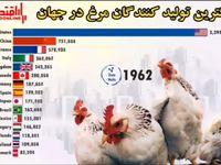 بزرگترین تولیدکنندگان مرغ در جهان از ۲۰۲۰-۱۹۶۱ +فیلم