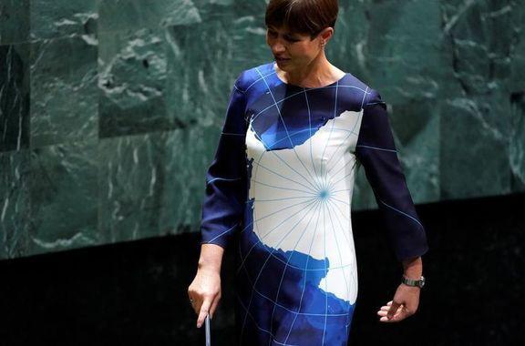 لباس متفاوت خانم رییس جمهور در سازمان ملل +عکس