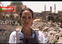 بازدید بازیگر مشهور آمریکایی از خرابههای شهر موصل عراق +فیلم