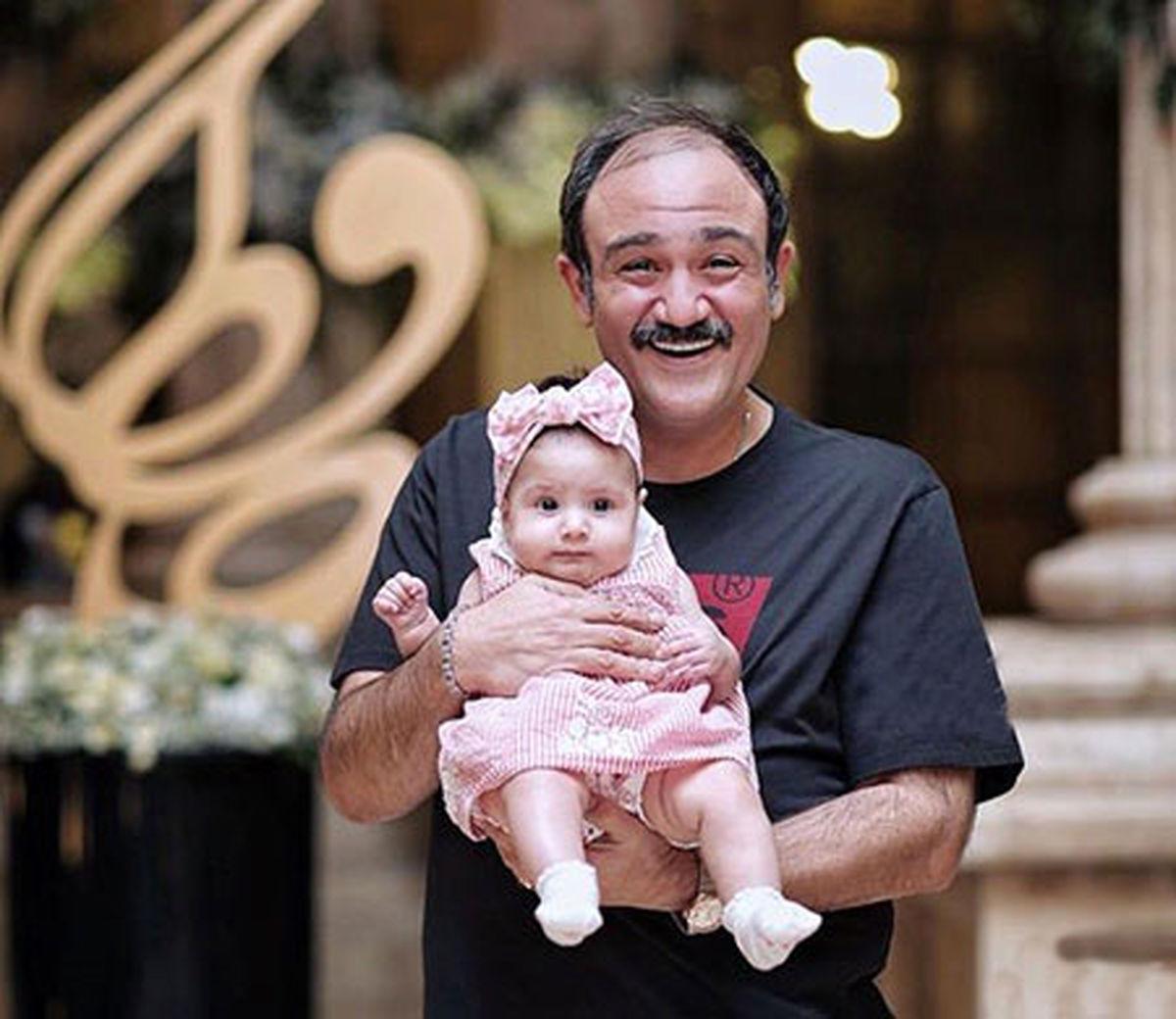 جشن تولد مهران غفوریان در کنار خانواده اش + عکس