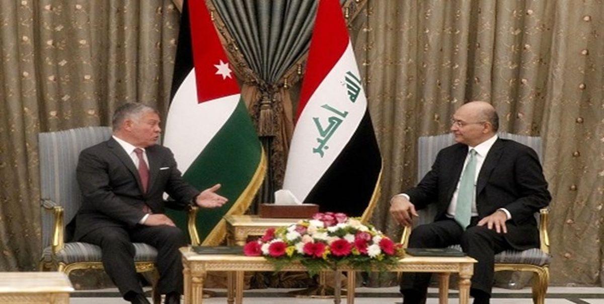 دیدار السیسی با امیر قطر و دیدار شاه اردن با برهم صالح