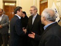 دیدار نوروزی رییس بانک ملت با رییس مجلس شوراى اسلامی