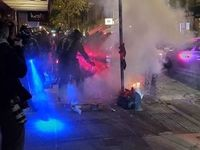 تظاهرات و بازداشت دهها نفر در آمریکا پس از انتخابات +عکس