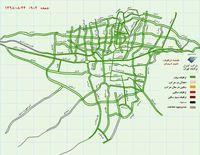 وضعیت ترافیکی تهران پس از سهمیهبندی بنزین