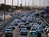 ترافیک سنگین در جاده های البرز