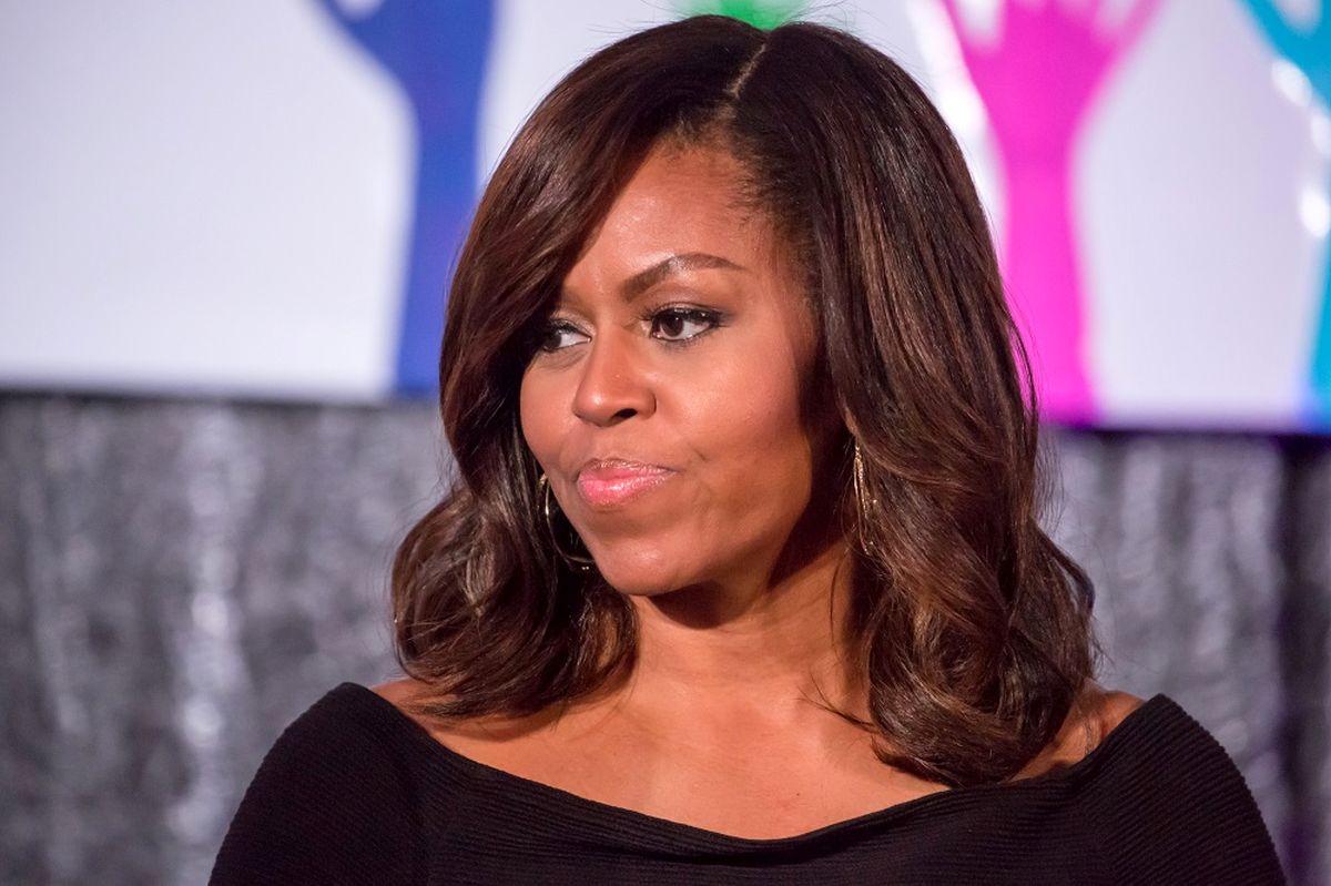 پوشش پر زرق و برق همسر باراک اوباما +تصاویر