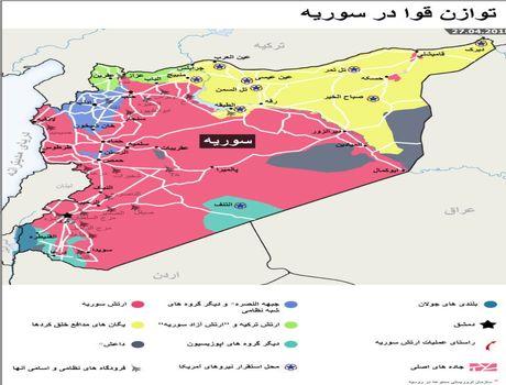 وضعیت توازن قوا در سوریه +اینفوگرافیک