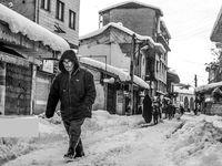 کوچههای بدون ماشین در روز برفی +عکس