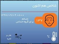 کیفیت هوای تهران با عدد١٣٧ در شرایط ناسالم