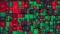 نقشه بورس امروز بر اساس ارزش معاملات/ بازار رنگ تعادل به خود میبیند